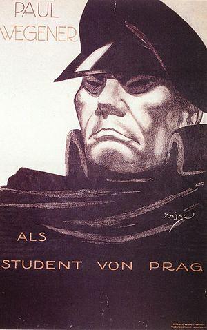 The Student of Prague (1913 film) - Image: Paul Wegener als Student von Prag, Filmplakat 1913