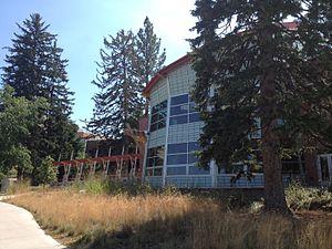 The Payne Family Native American Center - Back of the Payne Family Native American Center