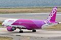 Peach Aviation, MM107, Airbus A320-214, JA802P, Departed to Sapporo, Kansai Airport (17171462116).jpg