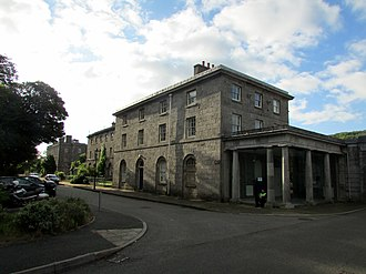 Pembroke Dockyard - Image: Pembroke Dock No.1 Dockyard terrace and East Gate Lodge