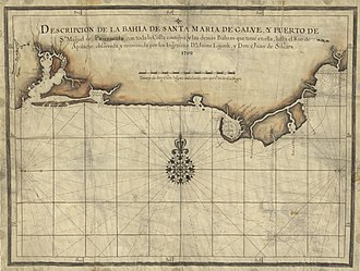 Siege of Pensacola (1707) - Spanish map of the Florida Gulf coast, 1700