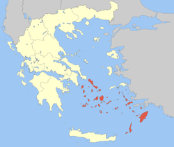 Location of South Aegean