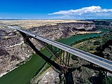 Perrine Bridge, aerial view