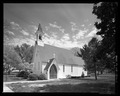 Perspective view from northwest. - St. Andrew's Chapel, 104 Maple Avenue, Sudlersville, Queen Anne's County, MD HABS MD-1391-1.tif