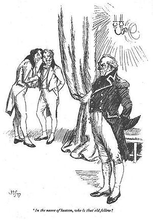 Persuasion (novel) - In the name of heaven, who is that old fellow! illustration by Hugh Thomson.