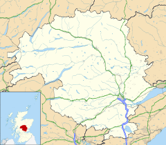 Comrie is located in Perth and Kinross