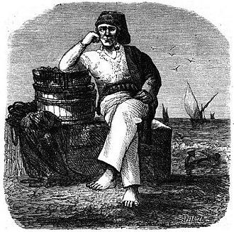 Culture of Póvoa de Varzim - Representation of a Povoan fishermen in an 1868 magazine.