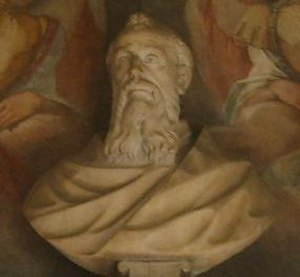 Peter Damian - Bust of Peter Damian.  Santa Maria degli Angeli, Florence.