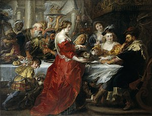 Herodias - Feast of Herod, Peter Paul Rubens