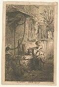 Petite femme tenant un sceau au bord d'un puits (NYPL b14917511-1212112).jpg