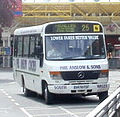 Phil Anslow & Sons bus Mercedes-Benz 814D (Vario) Plaxton Beaver 2, Cwmbran bus station, 7 July 2011.jpg