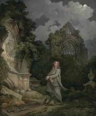 A Philosopher in a Moonlit Churchyard