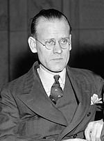The inventor Philo T. Farnsworth sitting in a chair