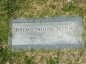Jack Swilling - Grave of Jack Swillings wife, Trinidad Escalante