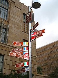 Sign showing Phoenix's sister cities