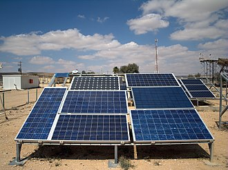 Solar power in Israel - Photovoltaic arrays at the Israel National Solar Energy Center