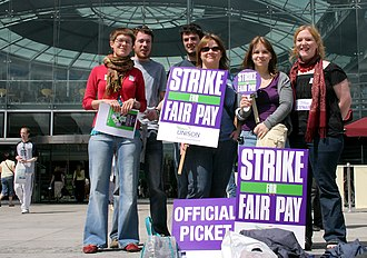 The Forum, Norwich - Picketing at The Forum in 2008