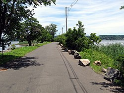 A short section of Piermont's long pier, the village's most prominent physical feature