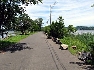 Piermont, New York - A short section of Piermont's long pier, the village's most prominent physical feature