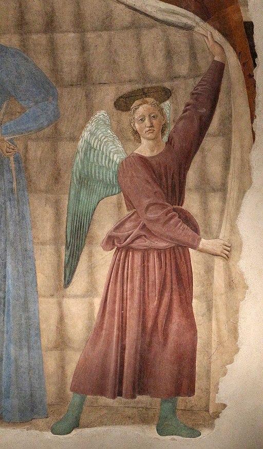Piero della francesca, Madonna del Parto, 1455 ca., Monterchi
