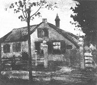 Piet Mondriaan - Gabled farmhouse façade with large gateposts - A250 - Piet Mondrian, catalogue raisonné.jpg