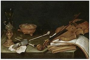 Goblet holder - Image: Pieter Claesz Vanitas with the Five Senses