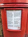 Pillar box outside 81 Ninian Road, Cardiff, March 2019 03.jpg