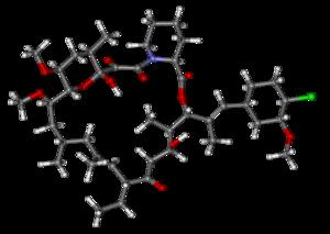 Pimecrolimus - Image: Pimecrolimus ball and stick