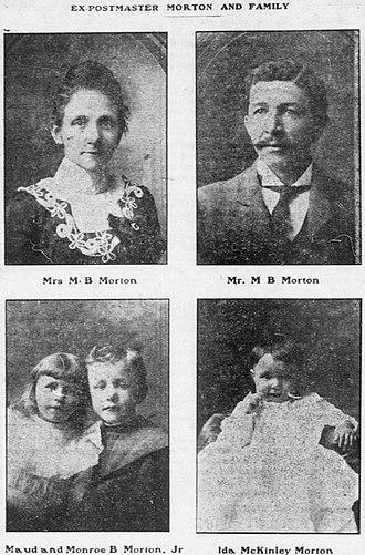 Monroe Morton - Pink Morton and his family in 1902