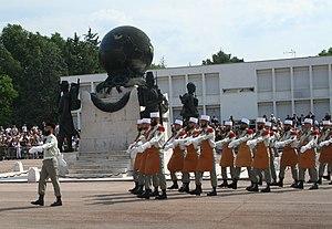 Défilé des pionniers lors de la cérémonie de C...