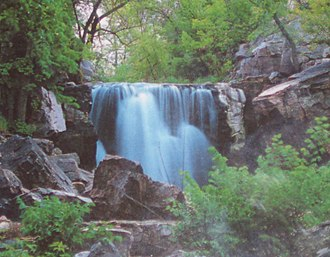 Pipestone National Monument - Image: Pipe Winnewissa falls