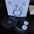 Pixel Buds in charging case with product box.jpg