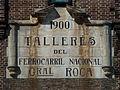 Placa de los Talleres del Ferrocarril Nacional General Roca - Remedios de Escalada, Buenos Aires.jpg