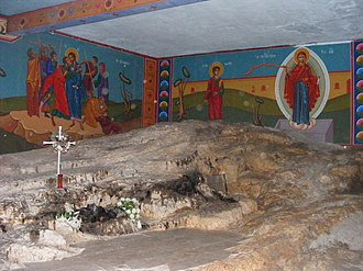 Saint Stephen - Reputed site of the stoning of Stephen, Greek Orthodox Church of St Stephen, Kidron Valley, Jerusalem.
