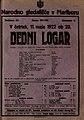 Plakat za predstavo Dedni logar v Narodnem gledališču v Mariboru 11. maja 1922.jpg
