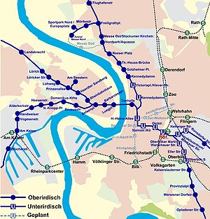 Düsseldorf Stadtbahn - Düsseldorf Stadtbahn network