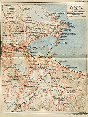 Carthage (municipality) - 1937 map of Tunis and environs