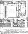 Plan du premier étage du Palais-Royal après sa restauration par Fontaine 1833 - Espezel 1936 p201.jpg