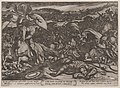 Plate 18- Saul's Suicide after His Defeat by the Philistines, from 'The Battles of the Old Testament' MET DP863691.jpg