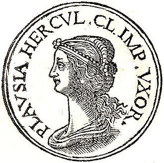 Plautia Urgulanilla - Plautia Urgulanilla from Guillaume Rouillé's Promptuarii Iconum Insigniorum