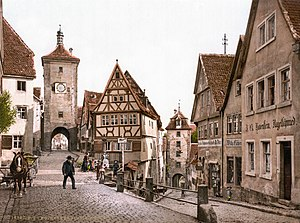 Altstadt - Altstadt of Rothenburg ob der Tauber in 1900...