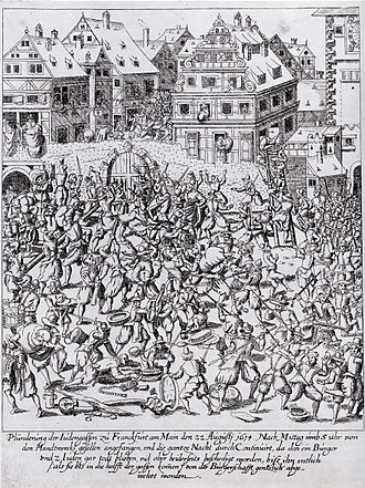 Looting - The plundering of the Frankfurter Judengasse, 22 August 1614