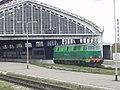 Poland train at Russian Kaliningrad RW station.jpg