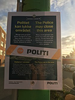 Police poster concerning COVID-19 in Odense, August 2020.jpg