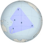 Polynesia is generally defined as the islands within the triangle.