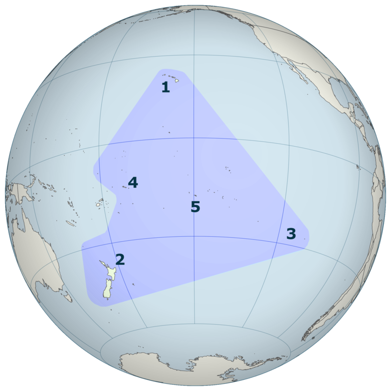Mapa de la Polinesia