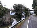 Ponte do vello ferrocarril sobre o río Grande.jpg