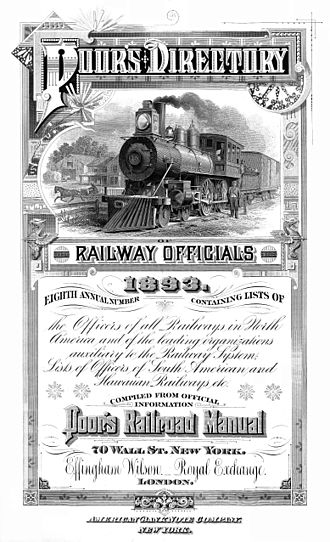"Standard & Poor's - ""Poor's Directory of Railroad Officials"", 1893 (frontispiece)"