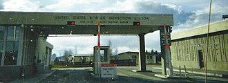 Alcan Border, Alaska - The Canada–United States border crossing at Alcan Border