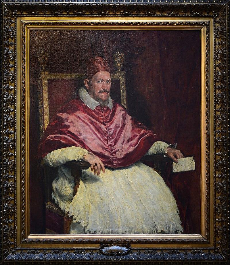 Portrait of Innocentius X by Diego Velázquez in Galleria Doria Pamphilj (Rome).jpg